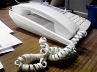 O型の電話機