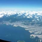 沖縄行 飛行機 広島市内