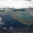 沖縄 機内 石垣島の眺め