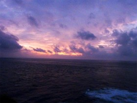 沖縄 与那国島 夕景色