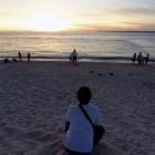 沖縄 最後の夕景にたそがれる私