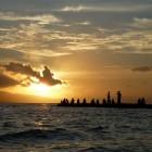 沖縄 竹富島 西桟橋からの夕景